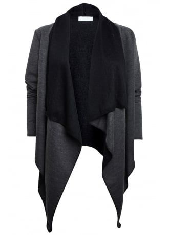 Contrast Waterfall Cardigan, £19.99