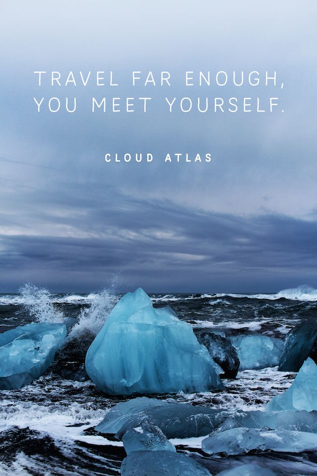 Iceland, travel, quote, cloud atlas, glacier lagoon, Island, powerful, nature, ice