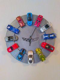 DIY Corvette clock!  Get the full DIY over at CrazyDiyMom.com