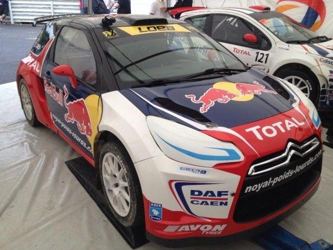 Sébastien Loeb y el Citroën DS3 RX para el Europeo de RallyCross