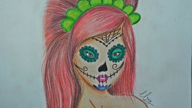 Speed painting: Mexican Skull of Colors