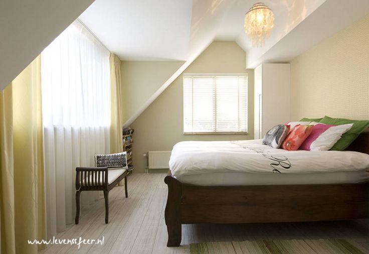 Lichte slaapkamer met lente gevoel : Aziatische slaapkamers van Levenssfeer
