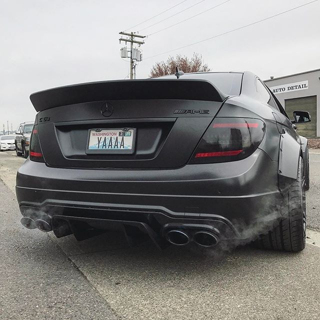 Meaty  ______________________________________ #c63 #amg #amggang #fun #amazing #instadaily #mean #funny #dope #mercedes #yaaaa #clean #mercedesbenz #live #follow #driveitlikeyoustoleit #drive #laugh #clean #thankful #blacklist #luxury #like #fast #murdered #blacklist #carlifestyle ______________________________________ •Follow/Like/Comment •Tag a friend or your own squad ______________________________________ @carlifestyle  Liberty Walk C63 Demon Eyes: @epiclighting Wrap: @primal_wr...