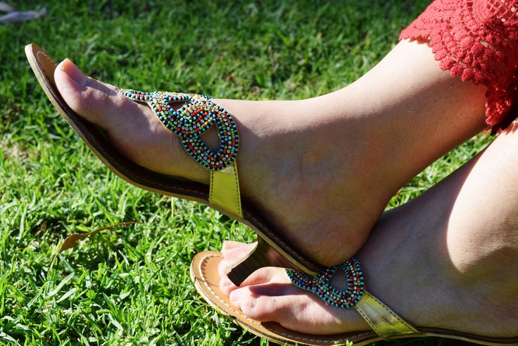 Multi colored indian shoes