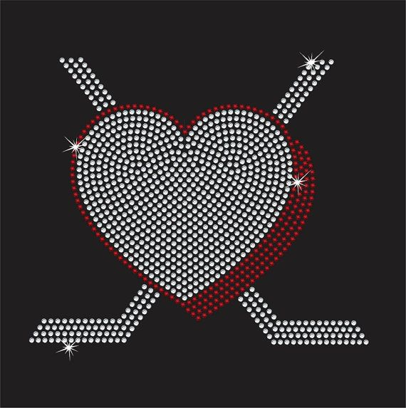 Women's Hockey Puck Heart shirt by RedheadedMonkeys on Etsy, $25.00