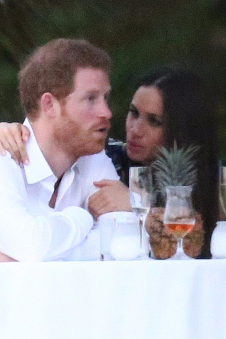 Prince Harry and Meghan Markle at Jamacian wedding of his best friend Tom Skip. March 4, 2017