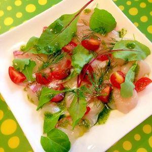 楽天が運営する楽天レシピ。ユーザーさんが投稿した「白身魚のカルパッチョ☆バジルソース」のレシピページです。おもてなしに♪見た目華やかなのに、素早く用意できるので、お助けレシピです。見た目勝負で♪。カルパッチョ バジルペースト。★バジル,★オリーブオイル,★粉チーズ,★塩,白身魚orほたて(刺身用),ベビーリーフ・ディル,プチトマト