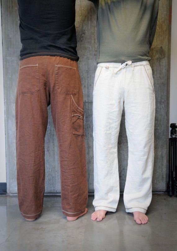 Evergreen Drawstring Pants/ Hemp and Tencel