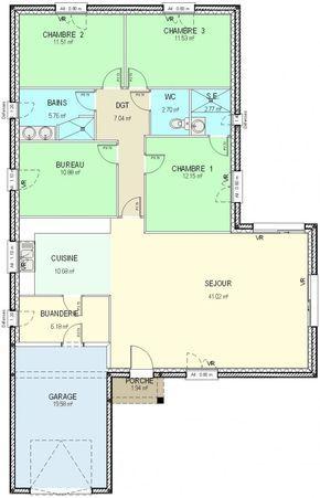 66 best projet maison images on pinterest floor plans. Black Bedroom Furniture Sets. Home Design Ideas