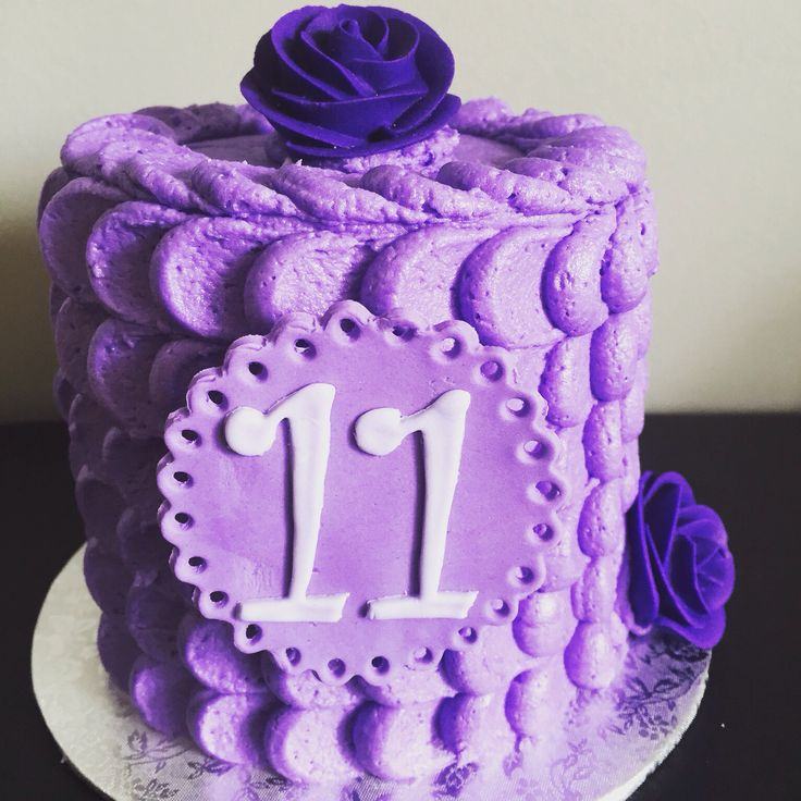 Simple buttercream cake for 11 year old girl Cakes in
