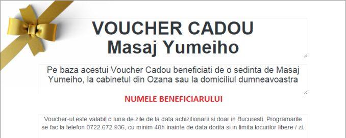 Comanda un voucher cadou pentru o sedinta e masaj yumeiho! www.masajterapeutic.ro
