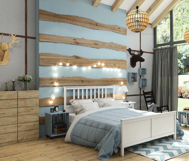 Гостевой домик с баней. Спальня в скандинавском стиле. Кемерово Лесная поляна #scandinavian #kemerovo #incdesign #interior #дизайн #bedroom #спальня