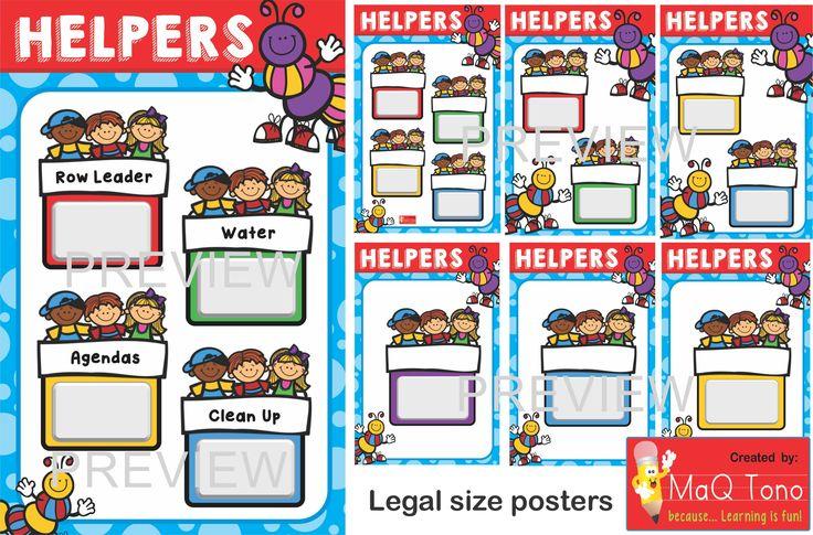 CLASSROOM HELPERS https://www.teacherspayteachers.com/Store/Maq-Tono
