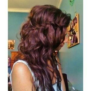 long brown hair braided