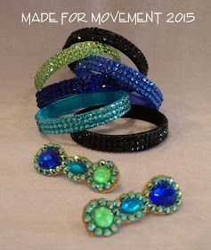 This post provides a simple tutorial for creating a stitched and glued bangle bracelet for competitive ballroom dancers.   Jewelry with pro...