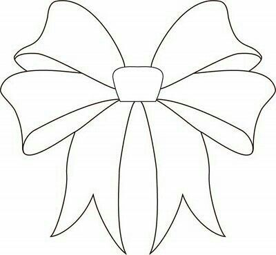 christmas bow coloring pages - photo #26