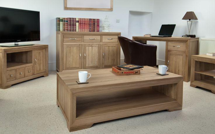 Bevel Solid Light Oak Range Living Room Furniture Www