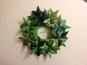 Wreath 25 Days of Origami Day 17