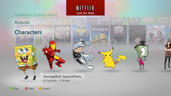 Kids TV UI I did at Netflix