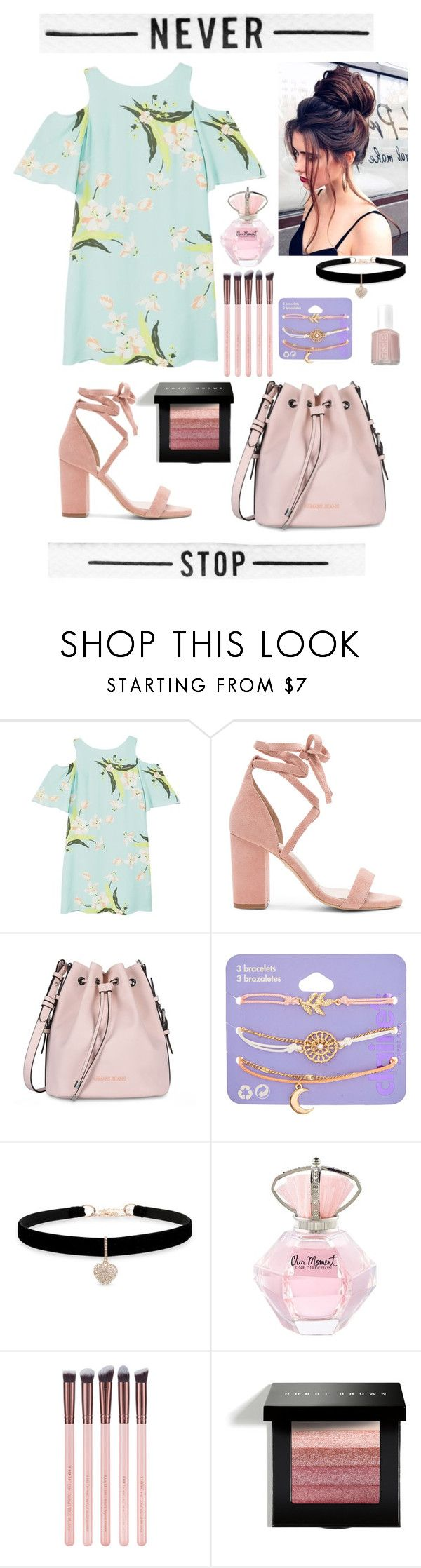 """Don't stop ▫️▪️"" by silviamachado20 on Polyvore featuring MANGO, Raye, Armani Jeans, claire's, Betsey Johnson, Bobbi Brown Cosmetics and Essie"