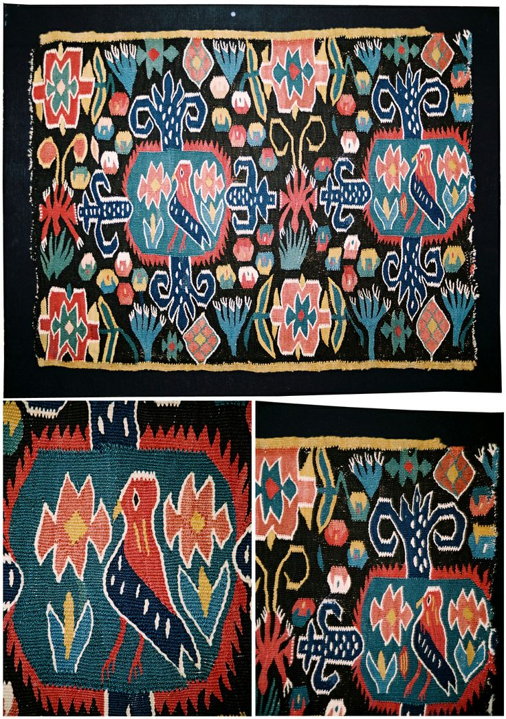 "Swedish ""flamsk"" weaving. 1775-1800. 68 X 50 cm. ""Confined bird""."