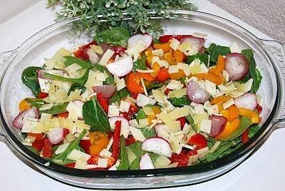 Szpinakowa  sałatka do obiadu