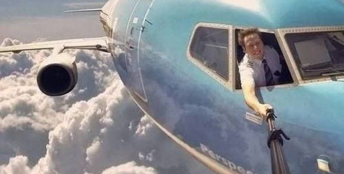 An amazing selfie.....