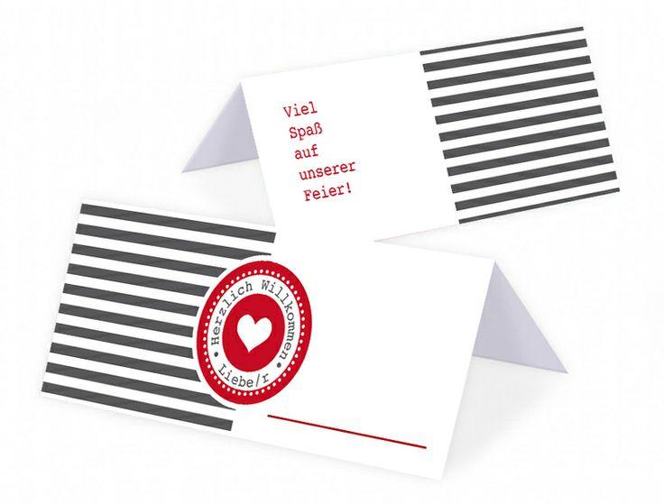 25 Stück - Tischkarte/Platzkarte Hochzeit von Mazet Design auf DaWanda.com