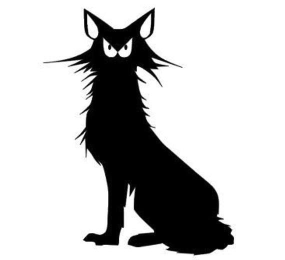 Scaredy catCar//Bike//Window//Wall//Laptop Vinyl Decal Sticker