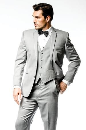 The Amsterdam light grey tuxedo. Online tuxedo rental for your groom and groomsmen. menguin.com/amsterdam