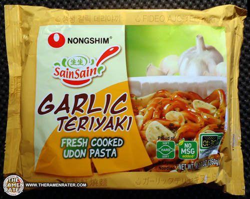 #1290: Nongshim Sain Sain Garlic Teriyaki Fresh Cooked Udon Pasta | The Ramen Rater