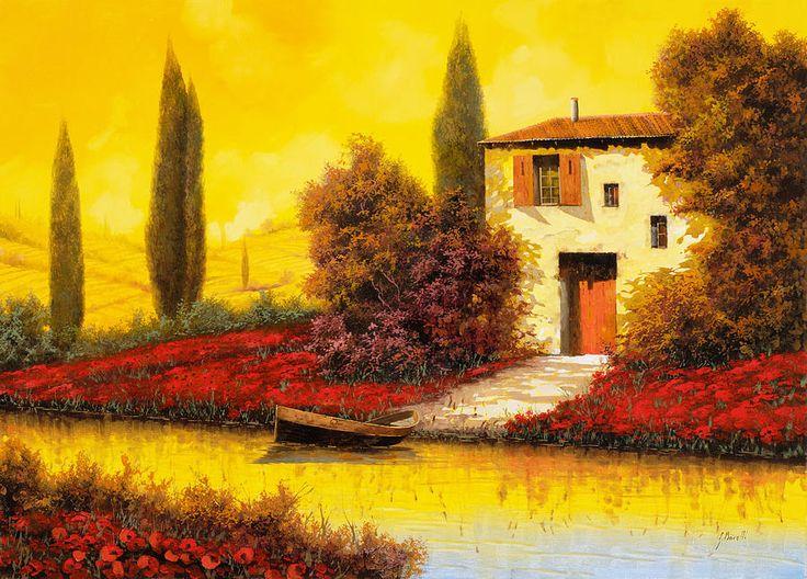 Lungo Il Fiume Tra I Papaveri by Guido Borelli - Lungo Il Fiume Tra I Papaveri Painting - Lungo Il Fiume Tra I Papaveri Fine Art Prints and Posters for Sale