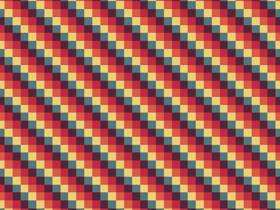 """Navaho"" by miice Chadrez, daviyan, design, herceg, orange, pixel, pixels, play, red, solarised"