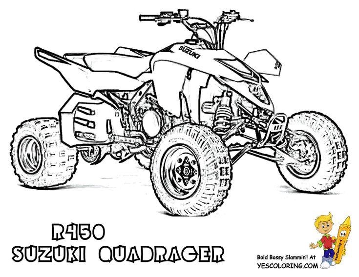 ATV Coloring Free ATV 4 Wheeler ATV Printables ATV