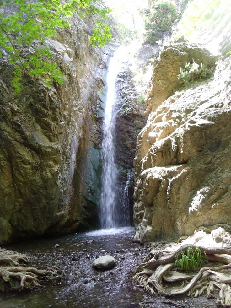 Waterfall in the middle of the Trudos mountains, Cyprus.