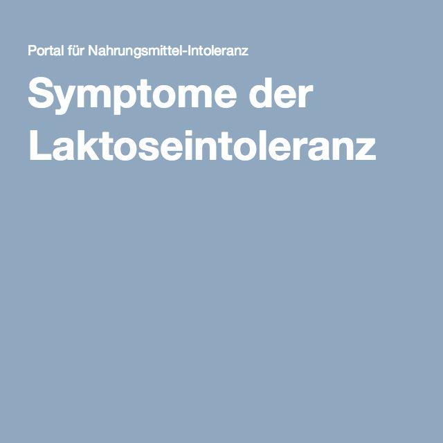 Symptome der Laktoseintoleranz
