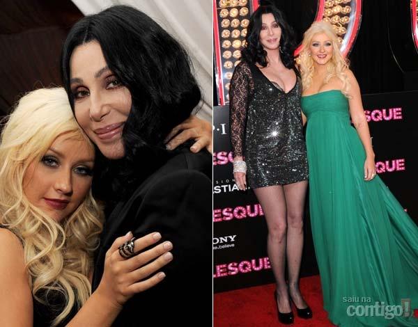 Cher com Christina aguilera