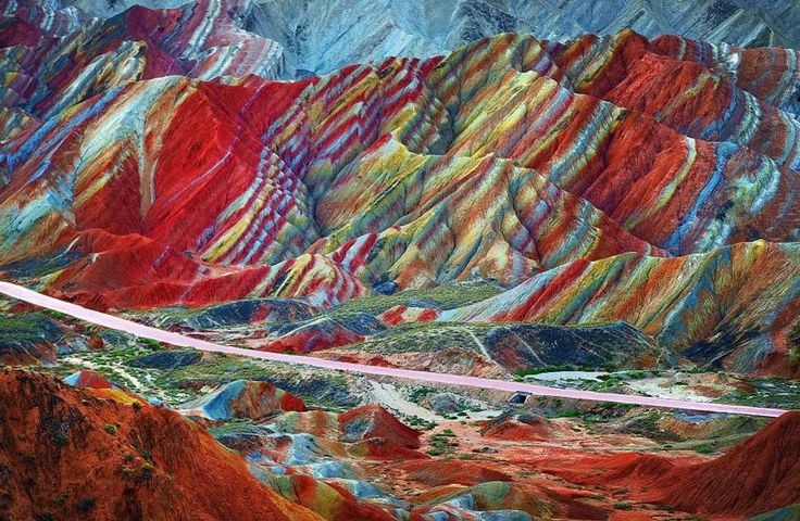 There is a similar land formation in British Columbia called the Rainbow Range, which is formed from a mixture of volcanic rock and various ...