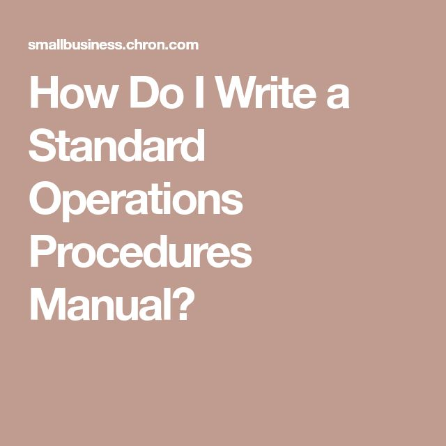 Best  Standard Operating Procedures Manual Ideas On