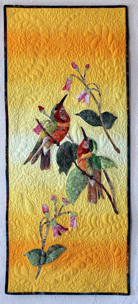 Hummingbird Art Quilt by TimelessDog on Etsy - no longer available