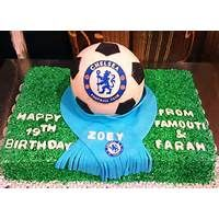 Chelsea Soccer Ball Birthday Cake