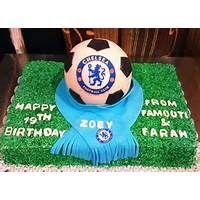 Chelsea Soccer Ball Birthday Cake
