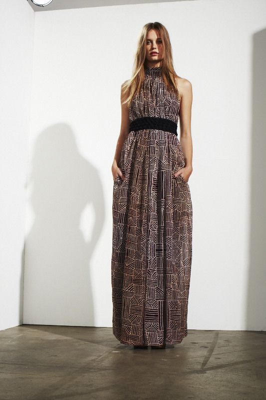 long maxi with hand made belt
