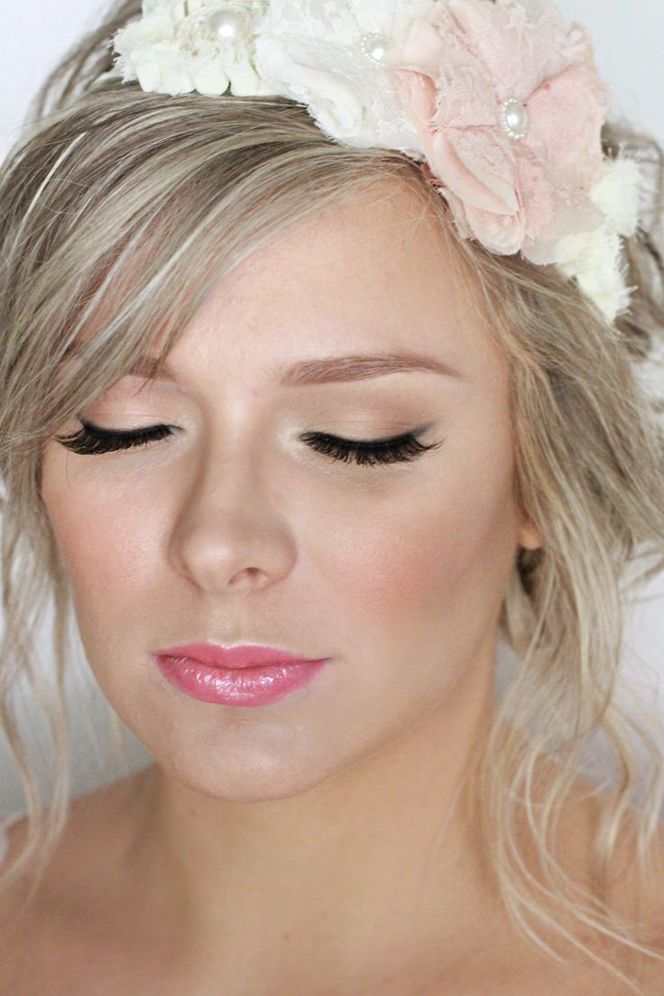 Natural Makeup, Pink Lip, Maternity Pictures, Flower Crown