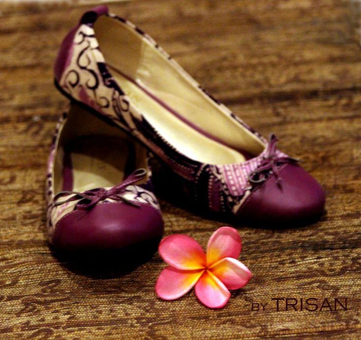 flatshoes batik paoman purple