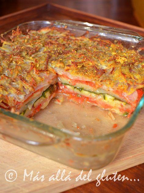 """""""Lasaña"""" de Papas y Verduras (Receta Vegana - sin lácteos, huevos o aceite!)"""