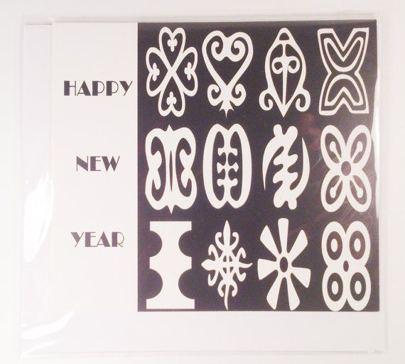 41 best kalati first home made greeting cards images on pinterest black and white adinkra greeting card new year card in african languages m4hsunfo Image collections