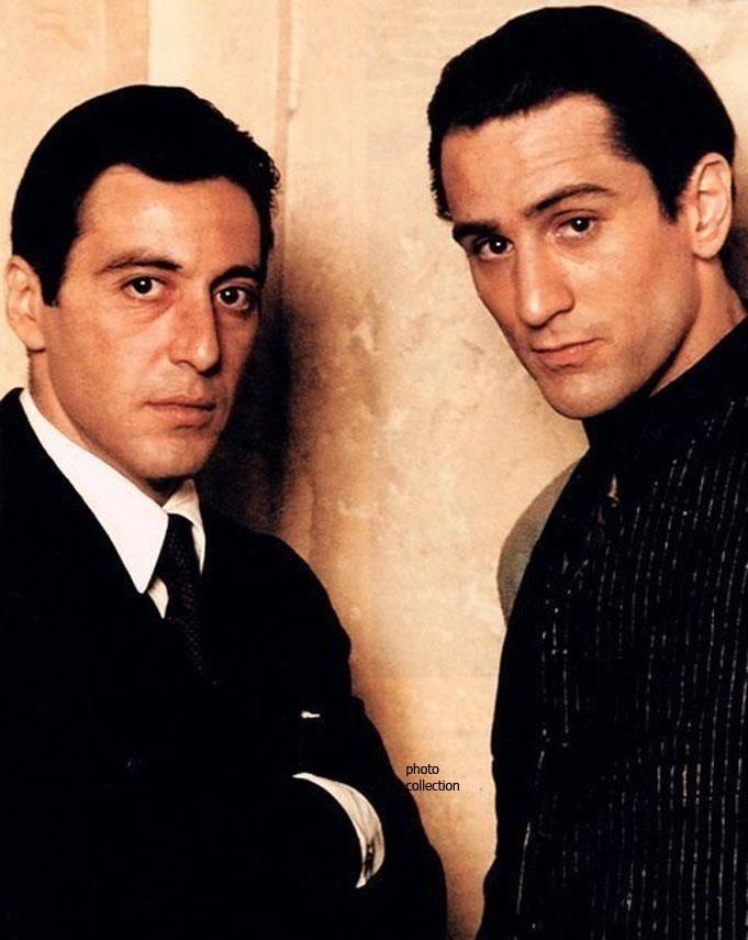 Al Pacino & Robert De Niro. I love both of these men so much! Wonderful actors My comment- Al pacino is an all time fav. And Robert De Niro is great too.