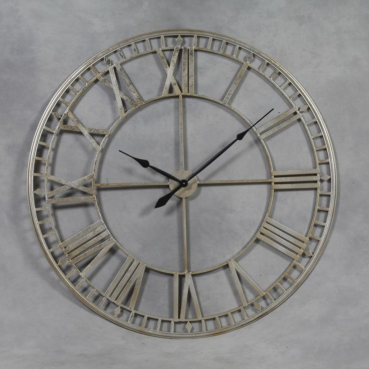 stylist and luxury giant clocks. Extra Large Antiqued Silver Metal Round Skeleton Wall Clock 120 cm Diameter  NEW 13 best Big clocks images on Pinterest
