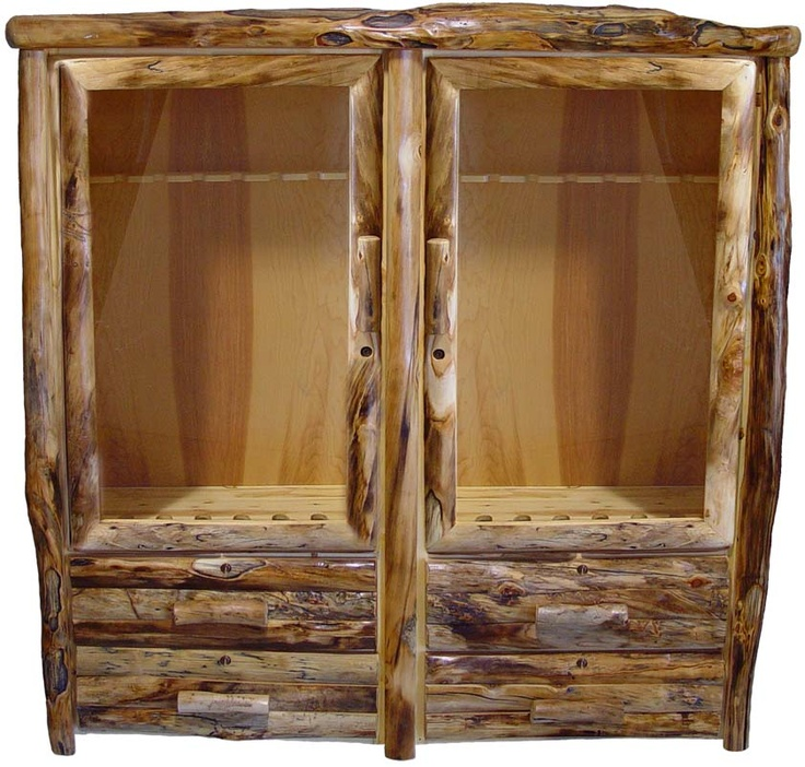 Rustic Gun Cabinet For The Home Pinterest Guns Furniture Ideas And Log Furniture